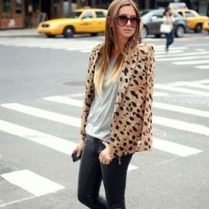 Tibi cheetah print blazer